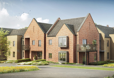 CGI of Bluebell Road, Eaton
